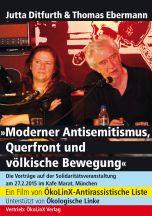 DVDCover: Moderner Antisemitismus, Querfront und völkische Bewegung Vorträge von Jutta Ditfurth & Thomas Ebermann