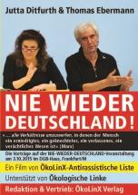 """DVDCover: """"NIE WIEDER DEUTSCHLAND!"""" Vorträge von Jutta Ditfurth & Thomas Ebermann"""