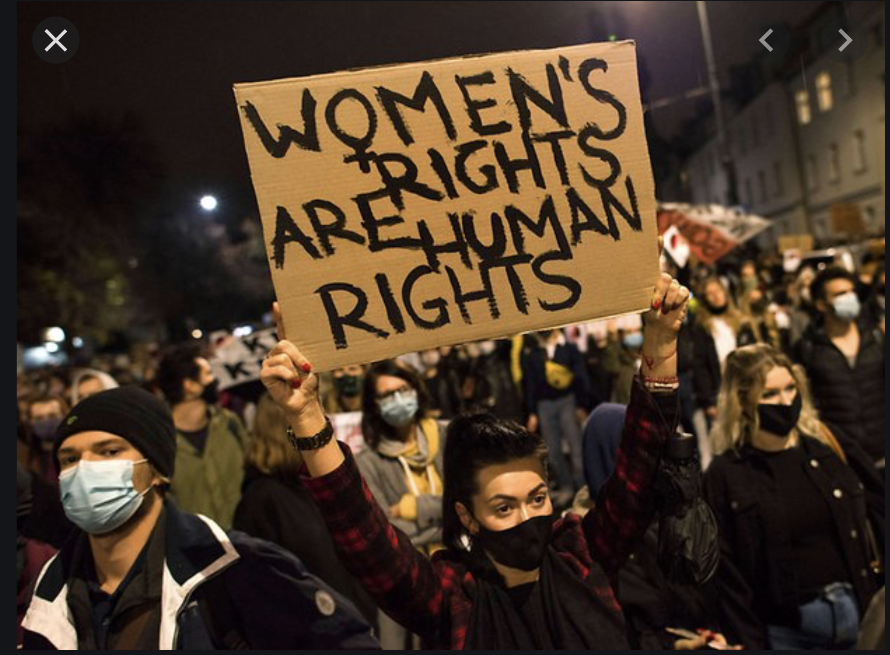 Bild women's rights are human rights Polen