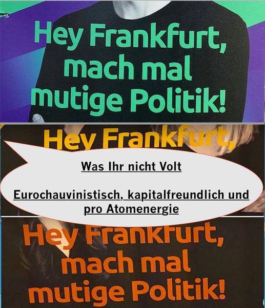 Was Ihr nicht Volt. Eurochauvinistisch, kapitalfreundlich und pro Atomenergie.